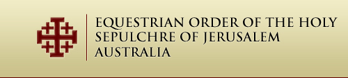 Equestrian Order of The Holy Sepulchre of Jerusalem Australia